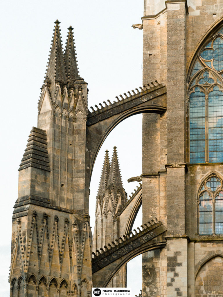 Détail architectural de la Cathedrale de Tours, Max Photographe