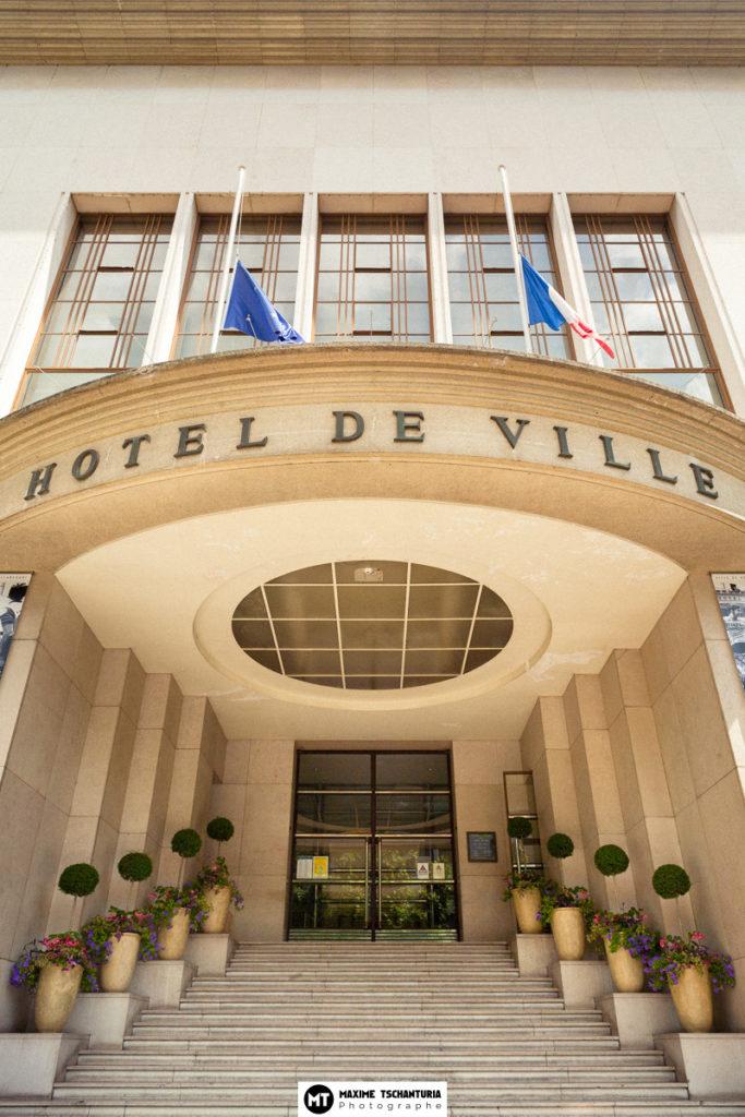 Entrée Hotel Ville Boulogne-Billancourt, Max Photographe