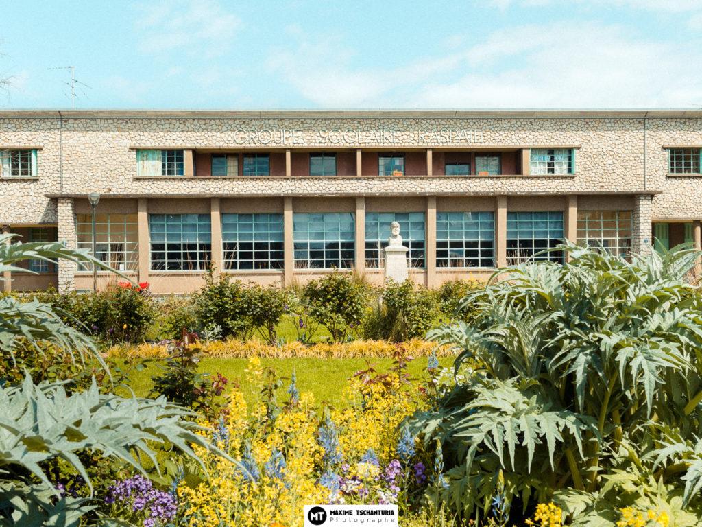 Vue extérieure de l'école - Groupe Scolaire Raspail, Tours, Max Photographe