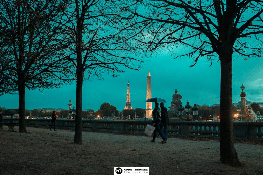Photo art : Place Concorde, Paris à l'heure bleue - Maxime Tschanturia, photographe professionnel Tours